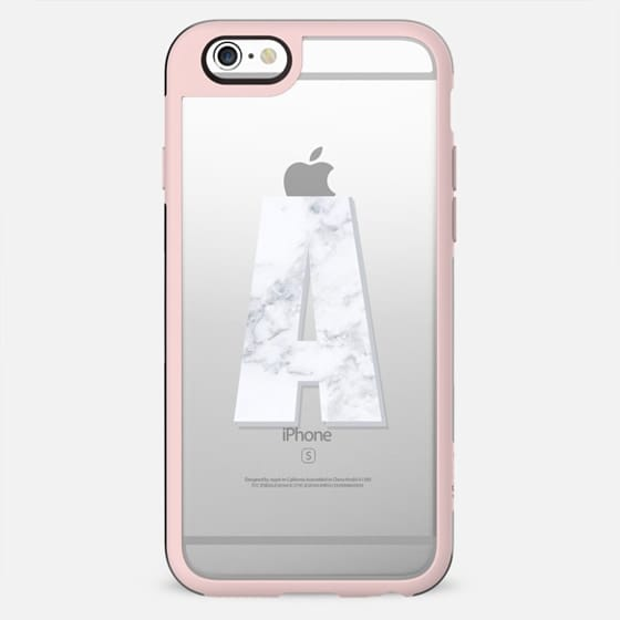 A - MARBLE MONOGRAM (Transparent) - New Standard Case