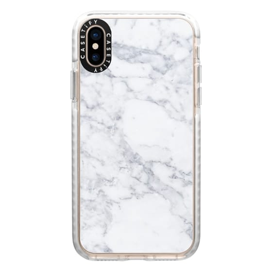 iPhone XS Cases - Grey marble