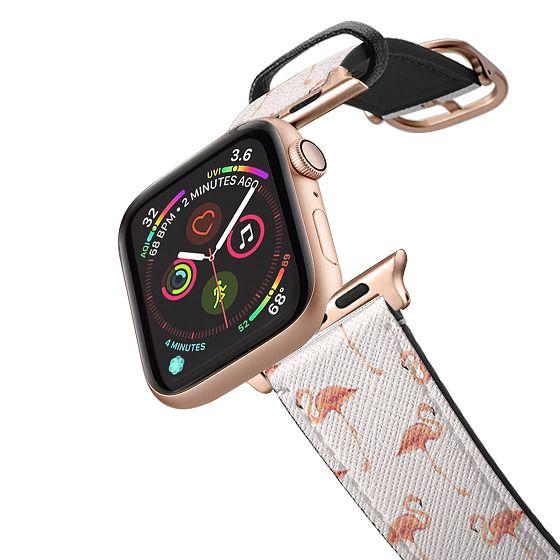 Apple Watch 38mm Bands - FLAMINGO PATTERN -Pink Background- Apple Watch