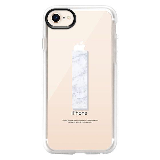 iPhone 7 Plus Cases - I - MARBLE MONOGRAM (Transparent)