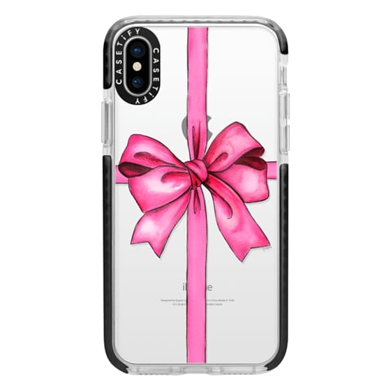 iPhone X Cases - SAY IT WITH A GIFT (Transparent background, Bow)