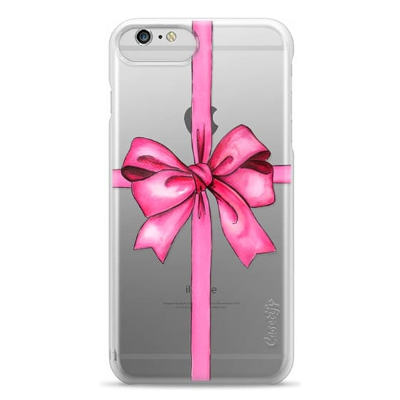 iPhone 6 Plus Cases - SAY IT WITH A GIFT (Transparent background, Bow)
