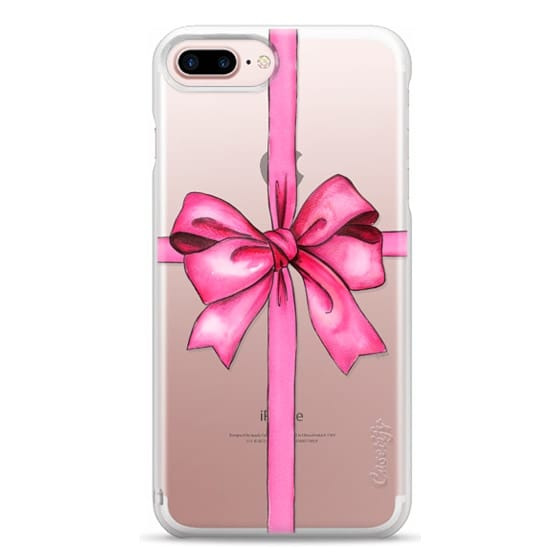 iPhone 7 Plus Cases - SAY IT WITH A GIFT (Transparent background, Bow)
