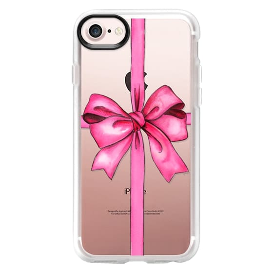 iPhone 7 Cases - SAY IT WITH A GIFT (Transparent background, Bow)