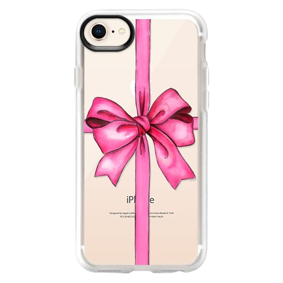 iPhone 8 Cases - SAY IT WITH A GIFT (Transparent background, Bow)