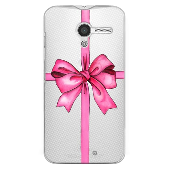 Moto X Cases - SAY IT WITH A GIFT (Transparent background, Bow)
