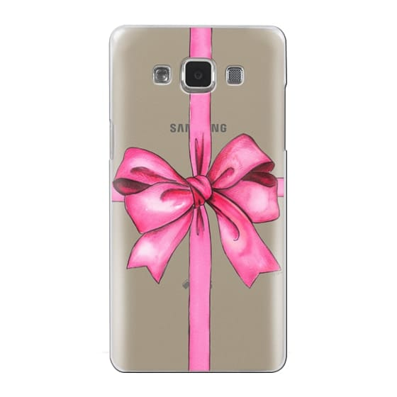 Samsung Galaxy A5 Cases - SAY IT WITH A GIFT (Transparent background, Bow)