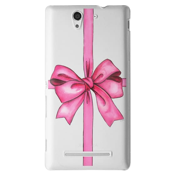 Sony C3 Cases - SAY IT WITH A GIFT (Transparent background, Bow)