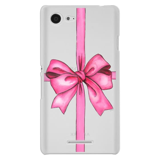 Sony E3 Cases - SAY IT WITH A GIFT (Transparent background, Bow)