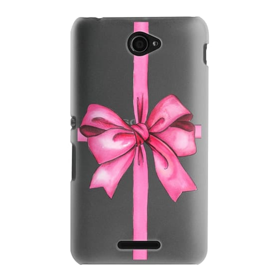 Sony E4 Cases - SAY IT WITH A GIFT (Transparent background, Bow)