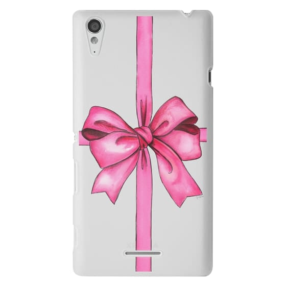 Sony T3 Cases - SAY IT WITH A GIFT (Transparent background, Bow)