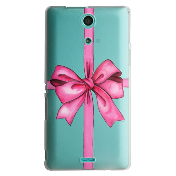 Sony Zr Cases - SAY IT WITH A GIFT (Transparent background, Bow)