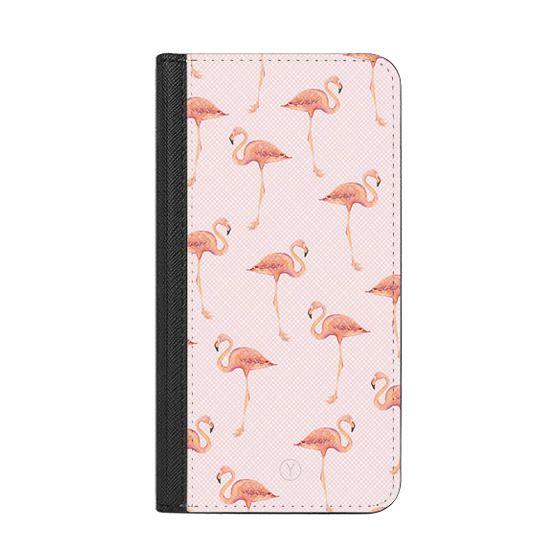 iPhone 8 Plus Cases - FLAMINGO FLOCK (Powder Pink)