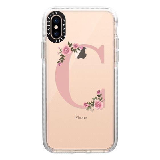 iPhone XS Cases - C - MONOGRAM (Transparent)