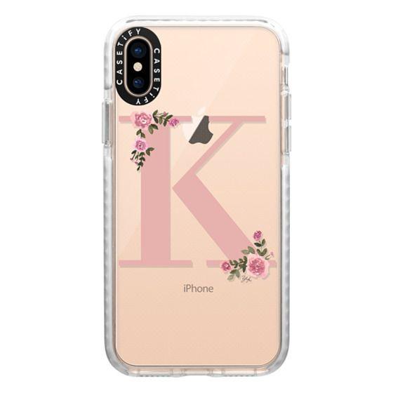 iPhone XS Cases - K - MONOGRAM (Transparent)