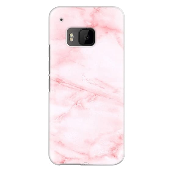 Htc One M9 Cases - PINK MARBLE