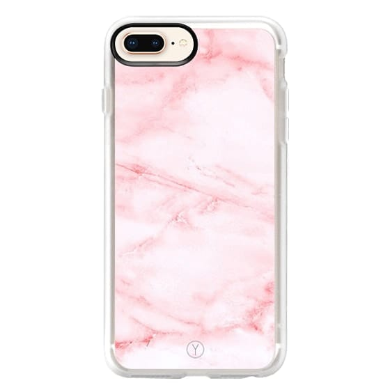 iPhone 8 Plus Cases - PINK MARBLE