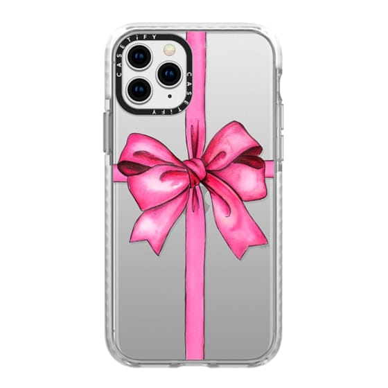 iPhone 11 Pro Cases - SAY IT WITH A GIFT (Transparent background, Bow)