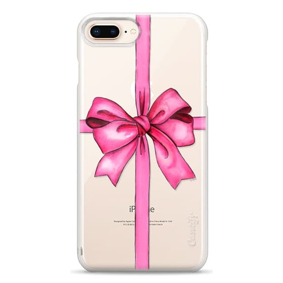 iPhone 8 Plus Cases - SAY IT WITH A GIFT (Transparent background, Bow)