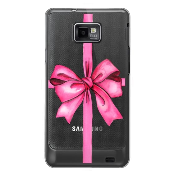 Samsung Galaxy S2 Cases - SAY IT WITH A GIFT (Transparent background, Bow)
