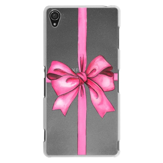 Sony Z3 Cases - SAY IT WITH A GIFT (Transparent background, Bow)