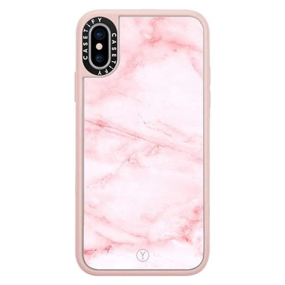 iPhone X Cases - PINK MARBLE