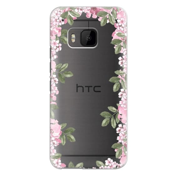 Htc One M9 Cases - A DAY IN BLOOM (Transparent) (Flowers)