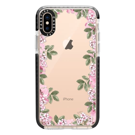 iPhone XS Cases - A DAY IN BLOOM (Transparent) (Flowers)