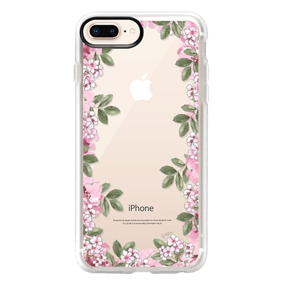 iPhone 8 Plus Cases - A DAY IN BLOOM (Transparent) (Flowers)