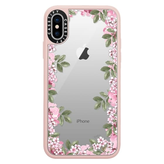 iPhone X Cases - A DAY IN BLOOM (Transparent) (Flowers)