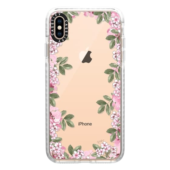 iPhone XS Max Cases - A DAY IN BLOOM (Transparent) (Flowers)
