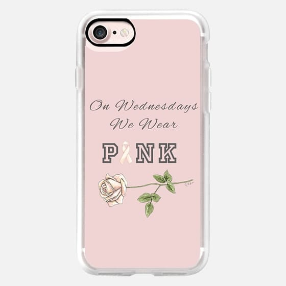 ON WEDNESDAYS WE WEAR PINK // BREAST CANCER BOW (Pink Background) -