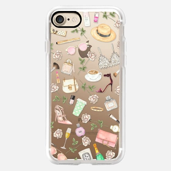 STOP AND SMELL THE ROSES (Transparent Background) - Classic Grip Case