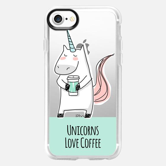 Unicorns Love Coffee - Mint Green - Wallet Case