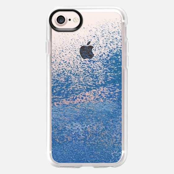 Abstract Paint Spatter - Navy Blue - Wallet Case