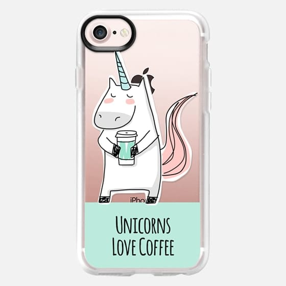 Unicorns Love Coffee - Mint Green - Classic Grip Case