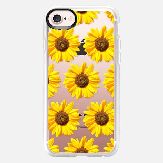 Small Sunflowers - Floral Pattern - Classic Grip Case