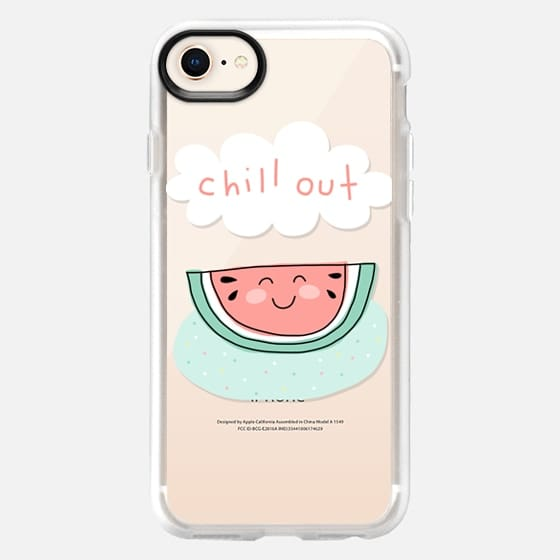 Chill Out - Watermelon - Summer Love and Fun - Mint Green & Pink - Snap Case