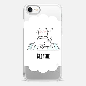 iPhone 7 Case Breathe - Yoga - Cat