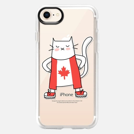 Cat in Canada Flag Suit - Patriotic Fashion - Travel Around the World - Snap Case