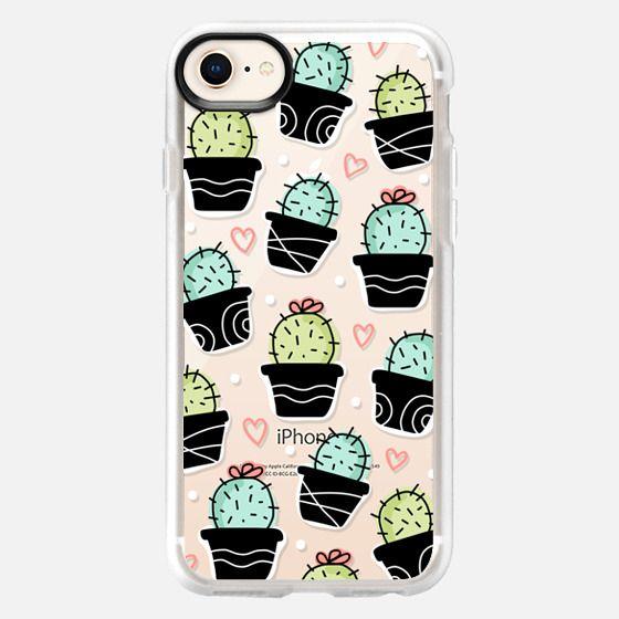 Cactus & Heart Pattern, Tropical, Floral, Plant - Snap Case