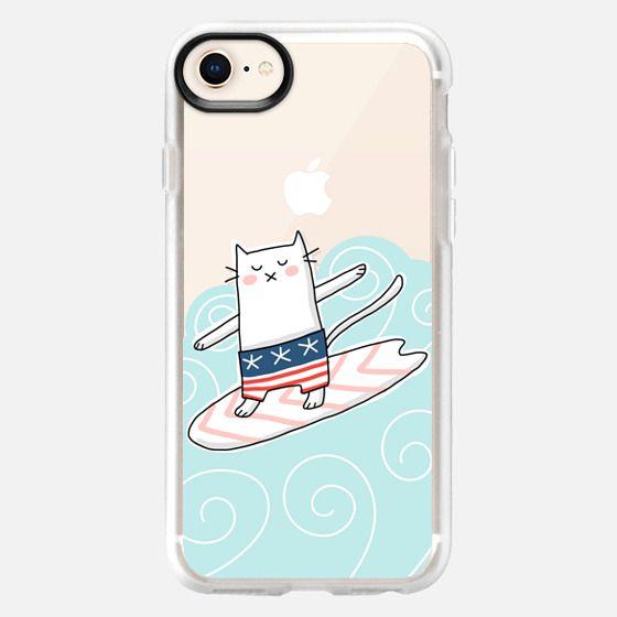 Surfer Cat - Surf Surfing Travel Beach Ocean Waves - Snap Case