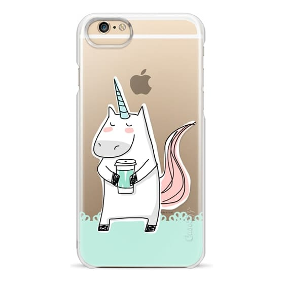 iPhone 6s Cases - Coffee Unicorn - Lace Border - Mint Green