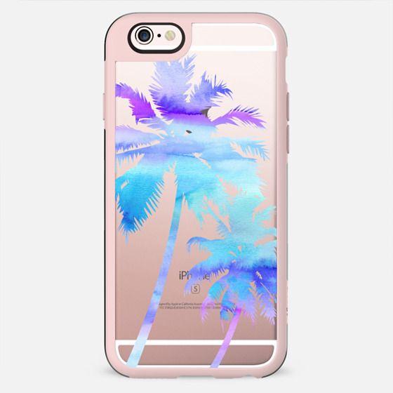Palm Trees - Watercolor - Purple & Blue