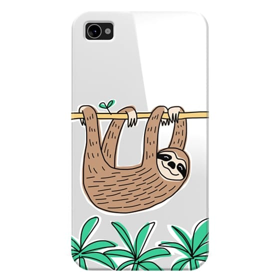 Sloth - Tropical Animal - Palm Tree Leaves