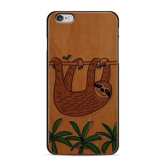 Sloth - Tropical Animal - Palm Tree Leaves