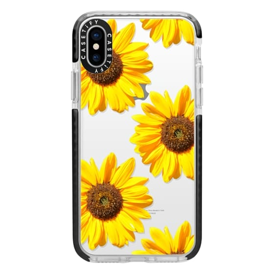 iPhone X Cases - Sunflowers - Floral Pattern