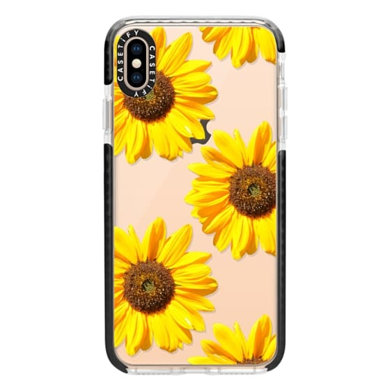 iPhone XS Max Cases - Sunflowers - Floral Pattern
