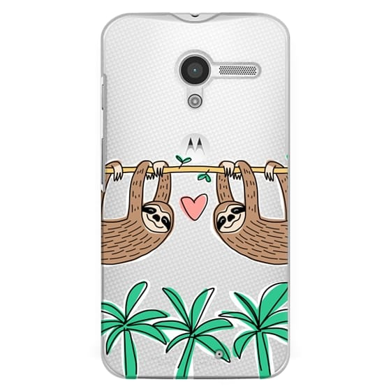 Sloth Couple - Tropical Animal - Love - Pink Heart