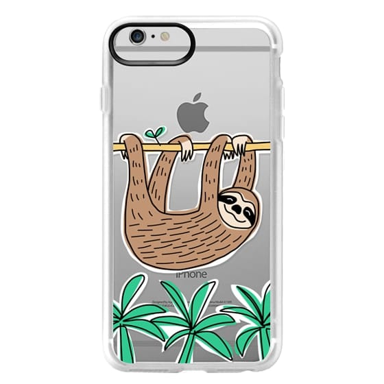 iPhone 6 Plus Cases - Sloth - Tropical Animal - Palm Tree Leaves